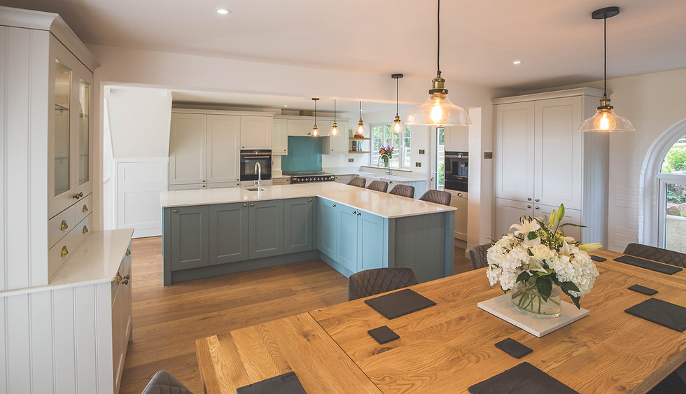 open plan shaker kitchen