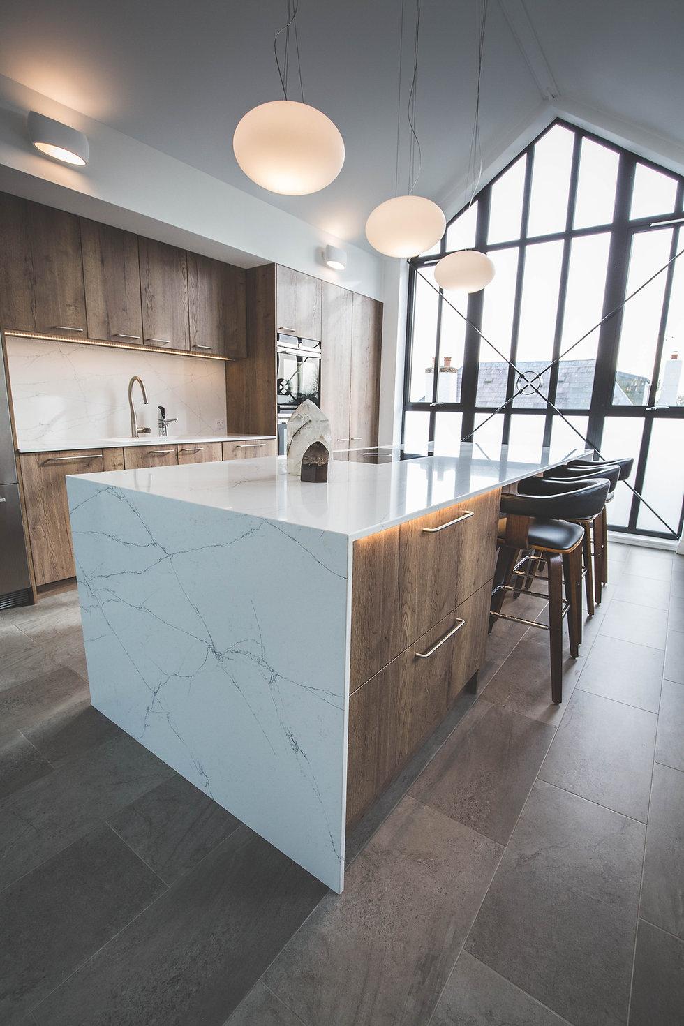 A modern industrial style kitchen