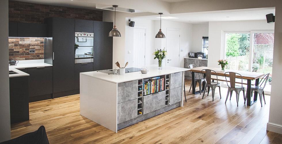 Concrete effect kitchen