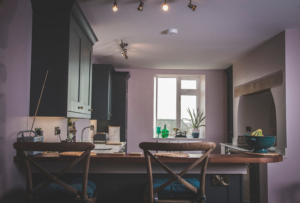 Dark Green Shaker Kitchen