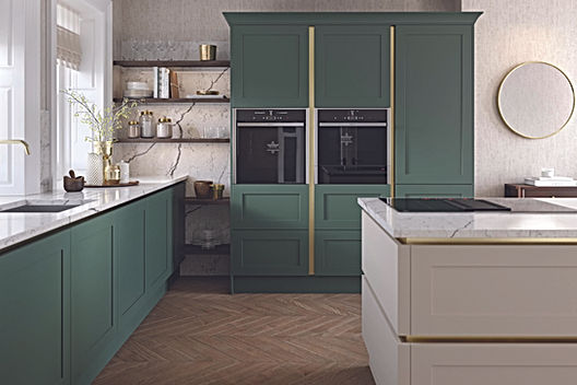 True handleless shaker kitchen