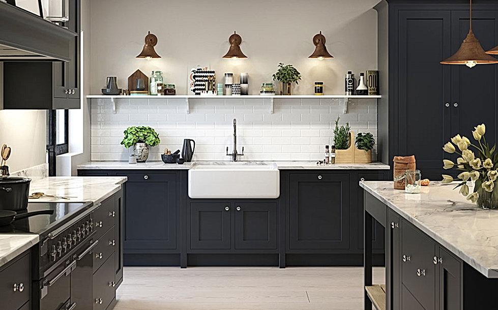 Bampton Kitchen with Belfast Sink