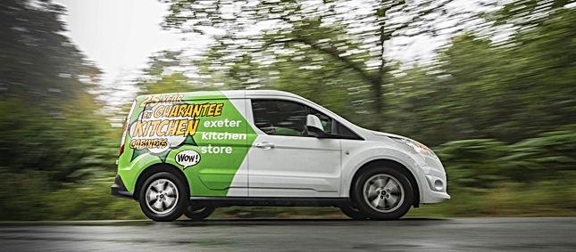 exeter kitchen store delivery van