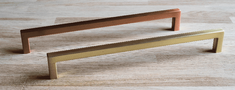 Gold kitchen handle & Copper kitchen handle