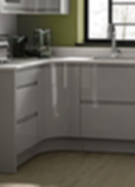 Leight Curved J handle door