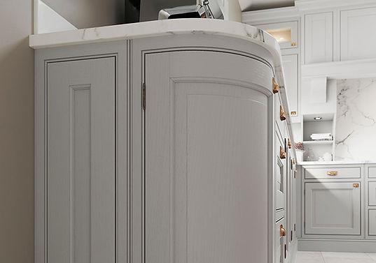 Powderham Kitchen with Curved Doors