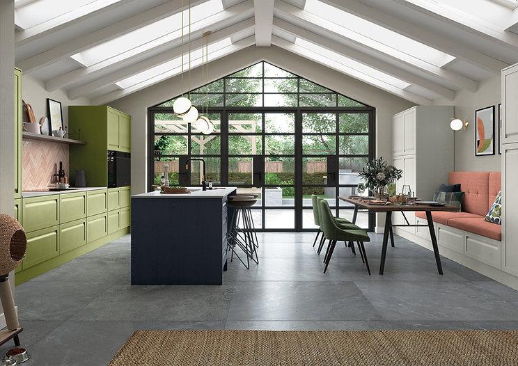unique handleless shaker kitchen