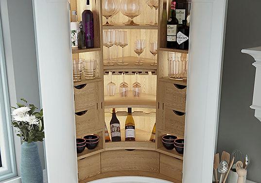 Elegance Osbourne Curved Kitchen Pantry Unit