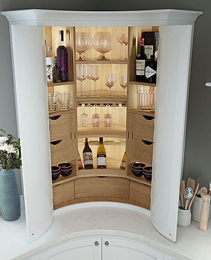 Curved Kitchen Pantry Unit