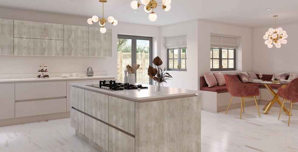 Sand Grey Glazed Halifax Oak & Cashmere