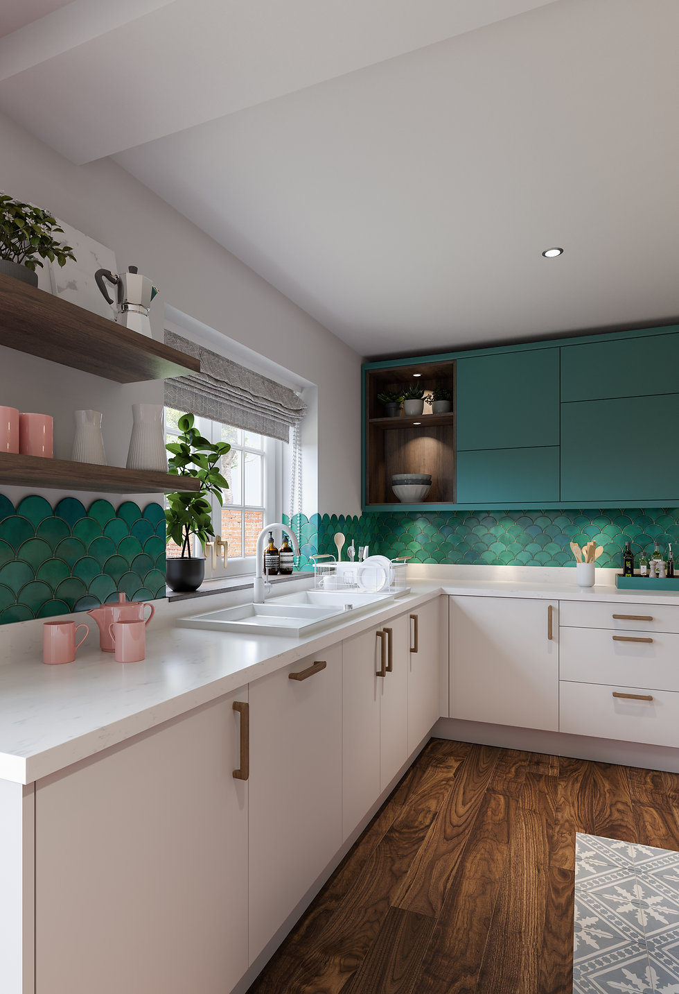 Eclectic style kitchen