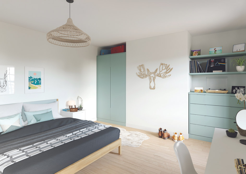 Green Fitted Bedroom