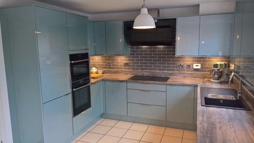 Kitchen Style: Manston Metallic Blue