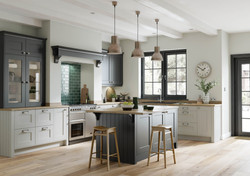 Treloy Kitchen in Graphite and Light Grey