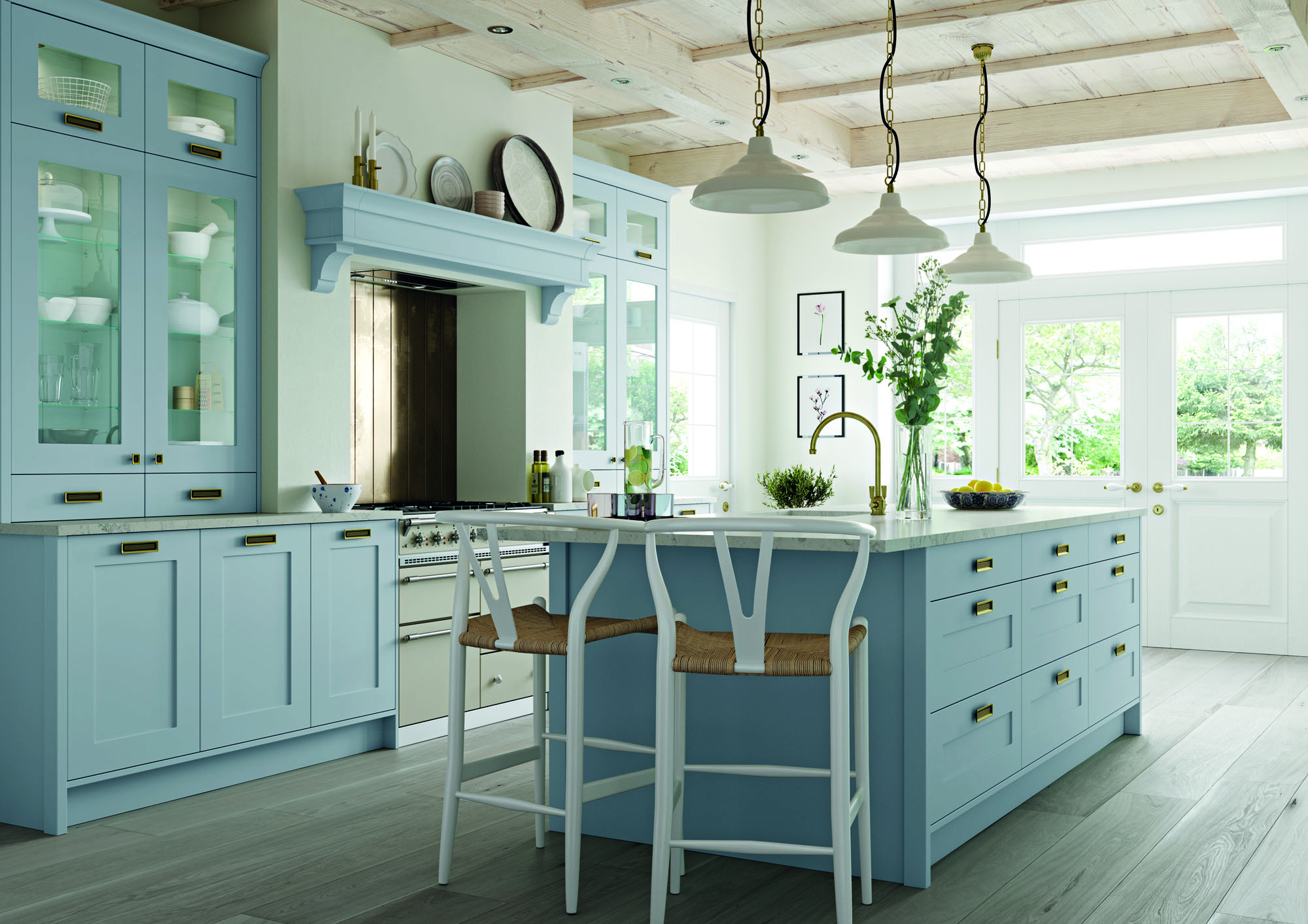 Keele Kitchen in Pantry Blue
