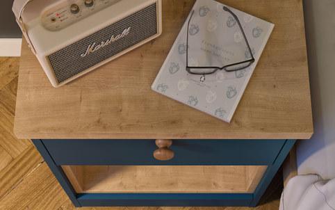 Blue Bedside Table