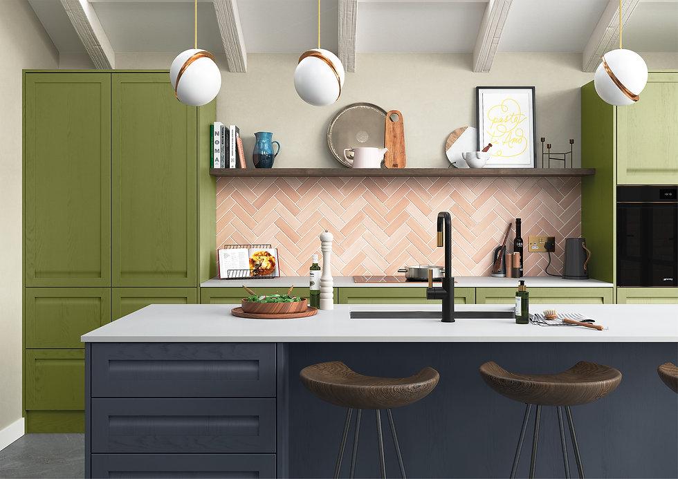 Green & Blue Kitchen