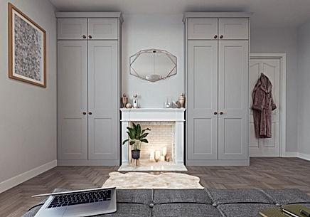 Grey Bedroom Wardrobe