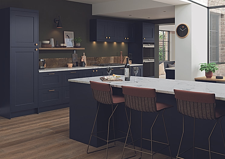 Dark Blue Kitchen