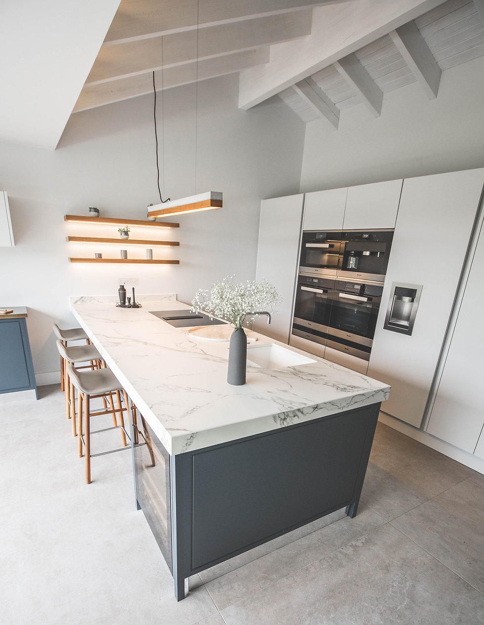 In-Frame and Handleless kitchen design