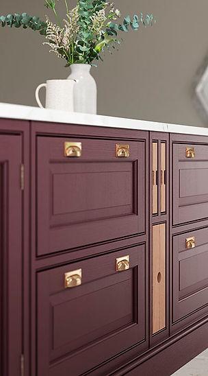 Elegance Powderham Kitchen Door Detail