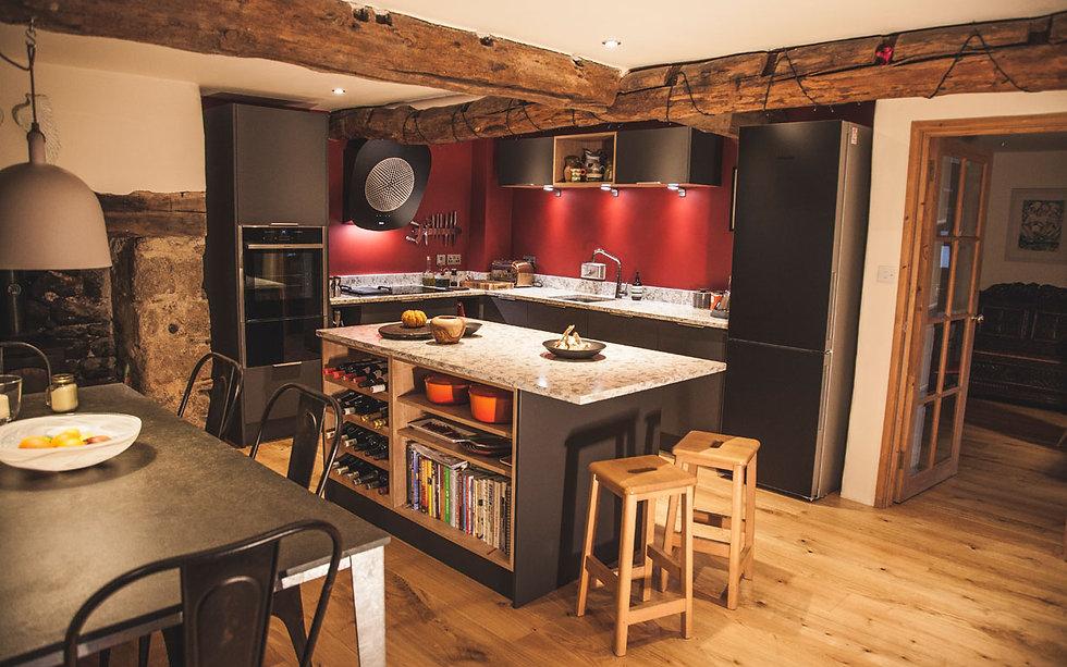 Dark Country Kitchen