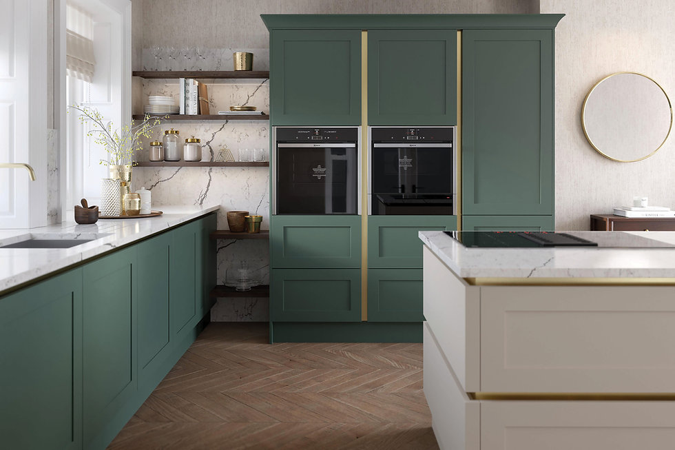 True Handleless Shaker Kitchen