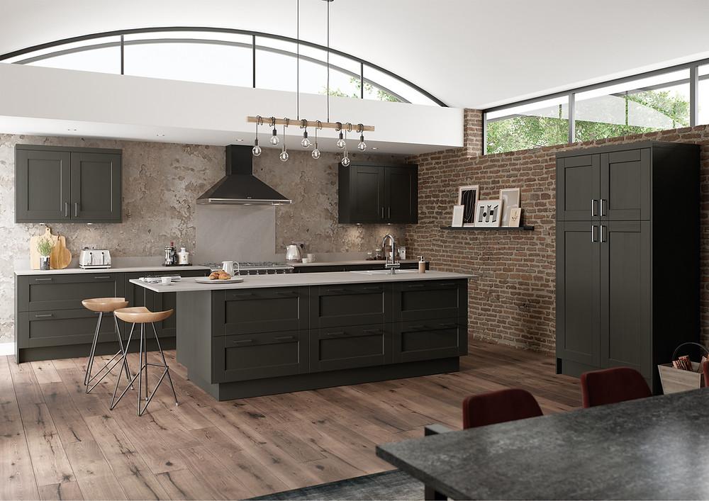 Dark Industrial Kitchen example