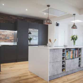 real concrete industrial kitchen