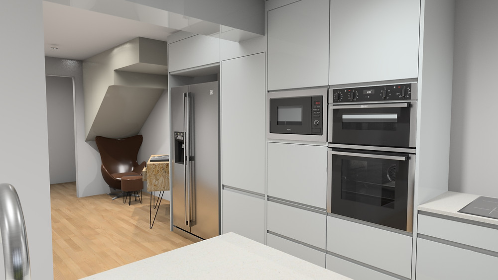 Small kitchen with an island