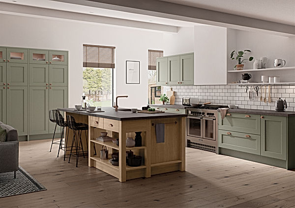 Green and Oak Kitchen