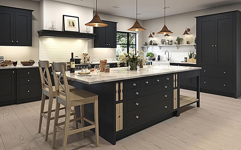 Bampton Kitchen with Kitchen Island