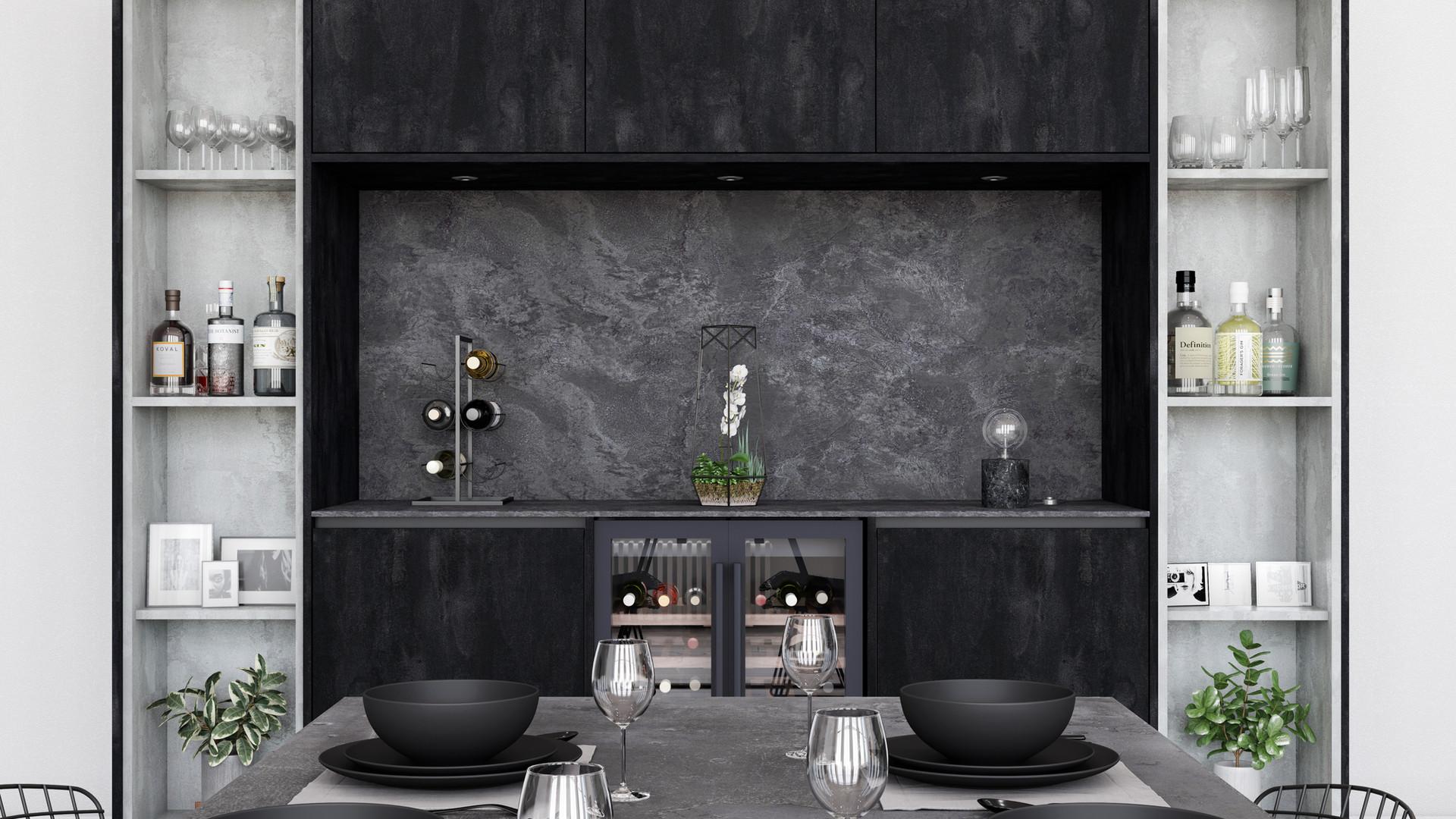 Linden Concrete Flow and Charcoal Flow (