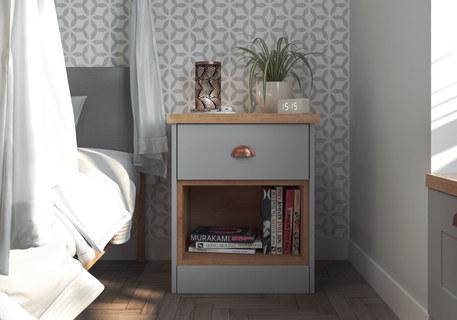 Grey Bedside Table