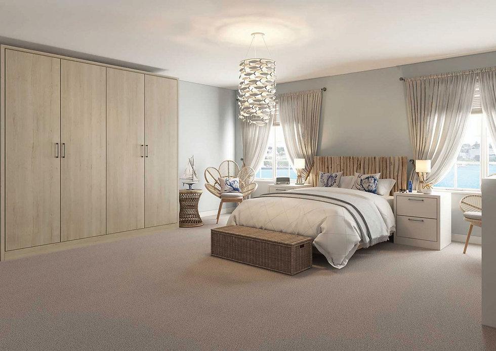woodgrain bedroom