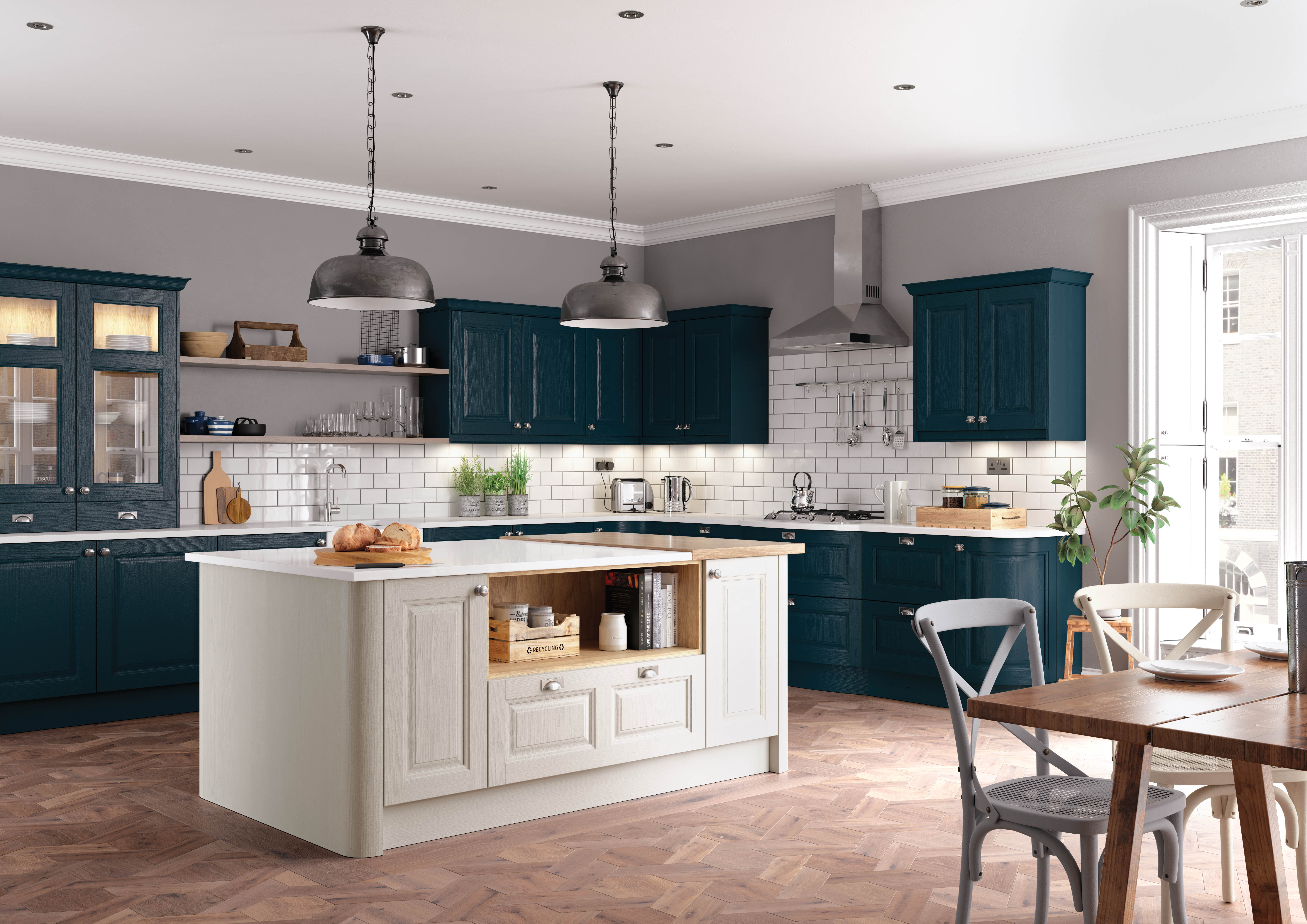 Charnwood Kitchen in Shell and Marine