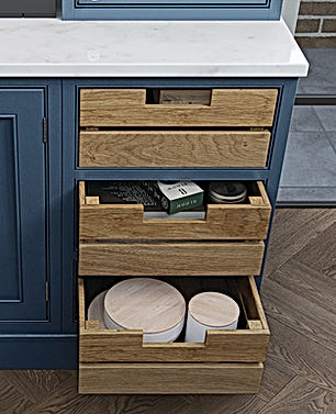 Oak Crate Drawers for Kitchen