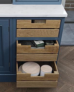 Oak Crate Kitchen Drawers