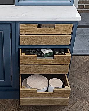 Oak Crate Kitchen Drawers