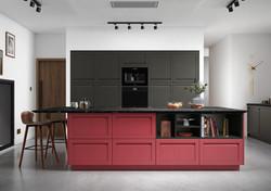 Webburn kitchen in Chicory Red & Graphite