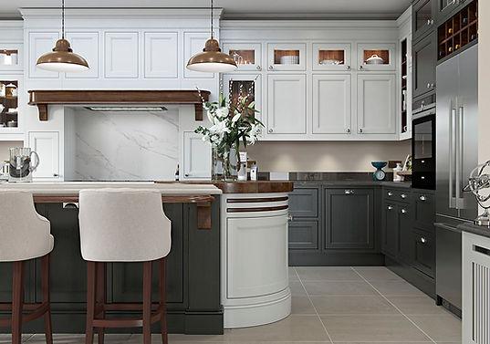 Elegance Tamworth Kitchen with and Island