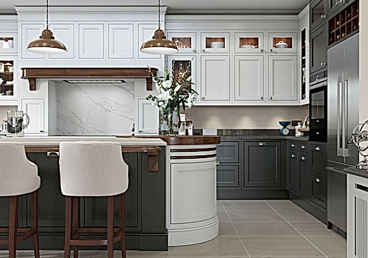 Elegance Tamworth Kitchen with and Island