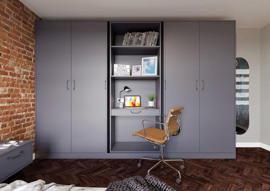 Grey Fitted Bedroom Burniture