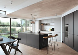 Croyde Kitchen in Light Grey and Graphite