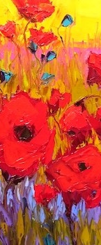 red poppies in the wild