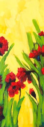 Poppy Blooms original acrylic painting