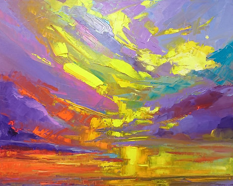 Colorful Seascape oil painting