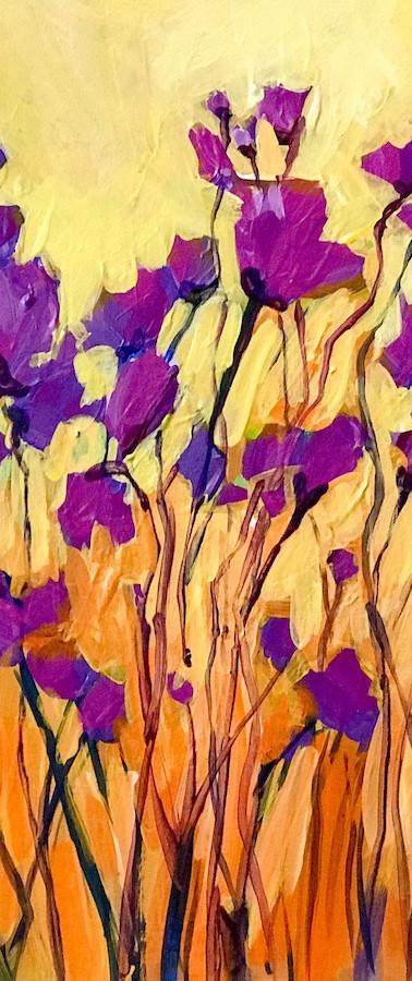 Purple abstract wildflowers