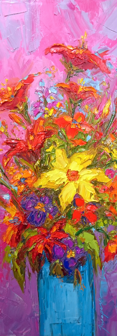 Floral still life modern impressionistic