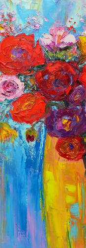 Floral still life, flowers in a vase, fl